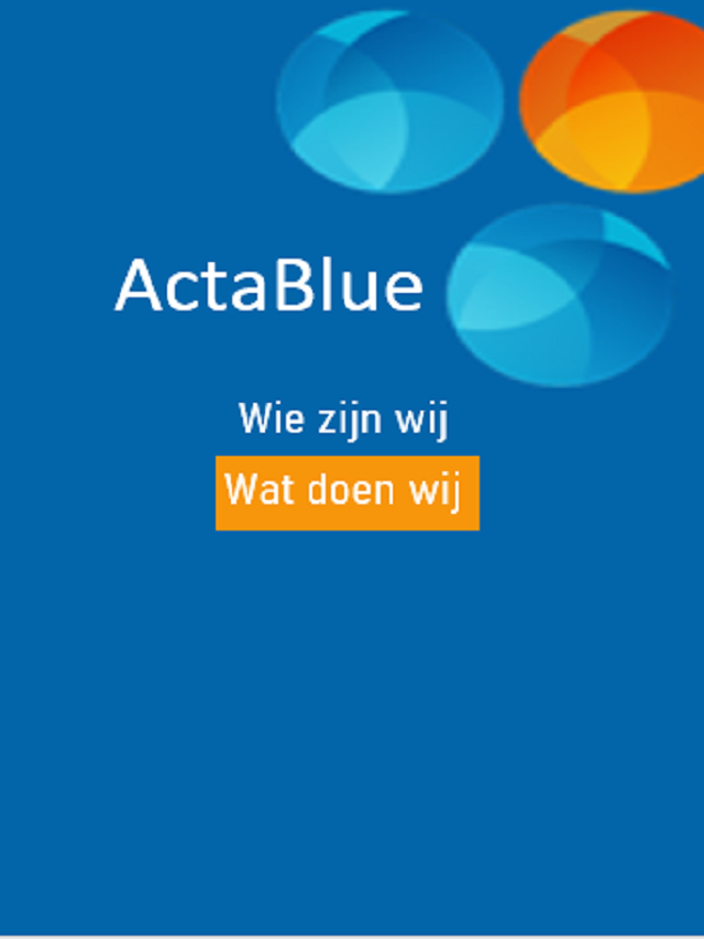 ActaBlue oplossingen